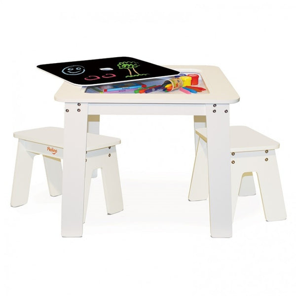 Curated Nest: Nurseries and Design - Chalktop Play Table and Stools - Play table