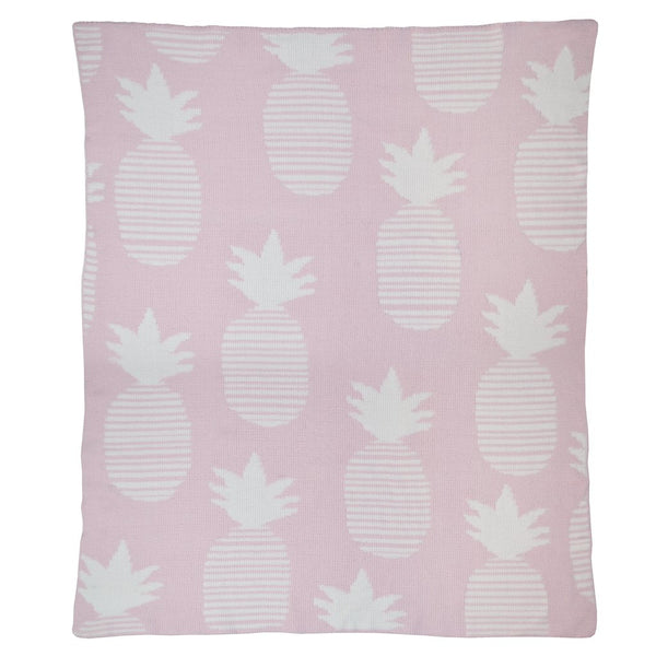 Curated Nest: Nurseries and Design - Chenille Pink Pineapples Blanket - Blanket