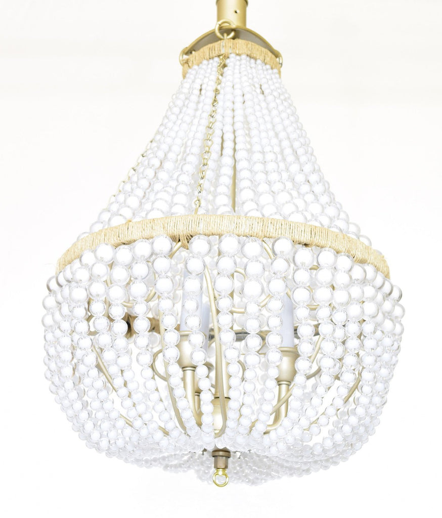 Curated Nest: Nurseries and Design - Chloe Beaded Chandelier - Lighting