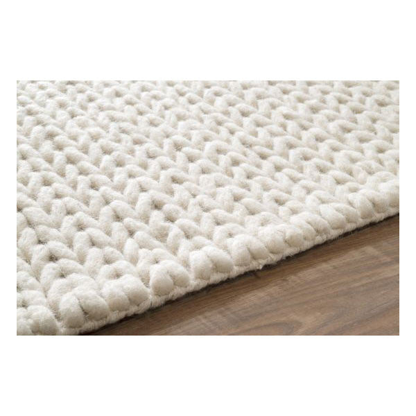 Curated Nest: Nurseries and Design - Hand Woven Chunky Cable Rug - Rug