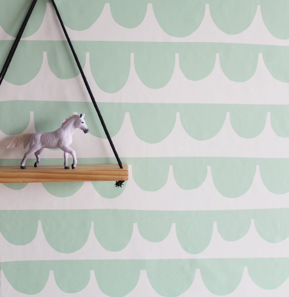 Curated Nest: Nurseries and Design - Droopy Scallops Wallpaper - wallpaper