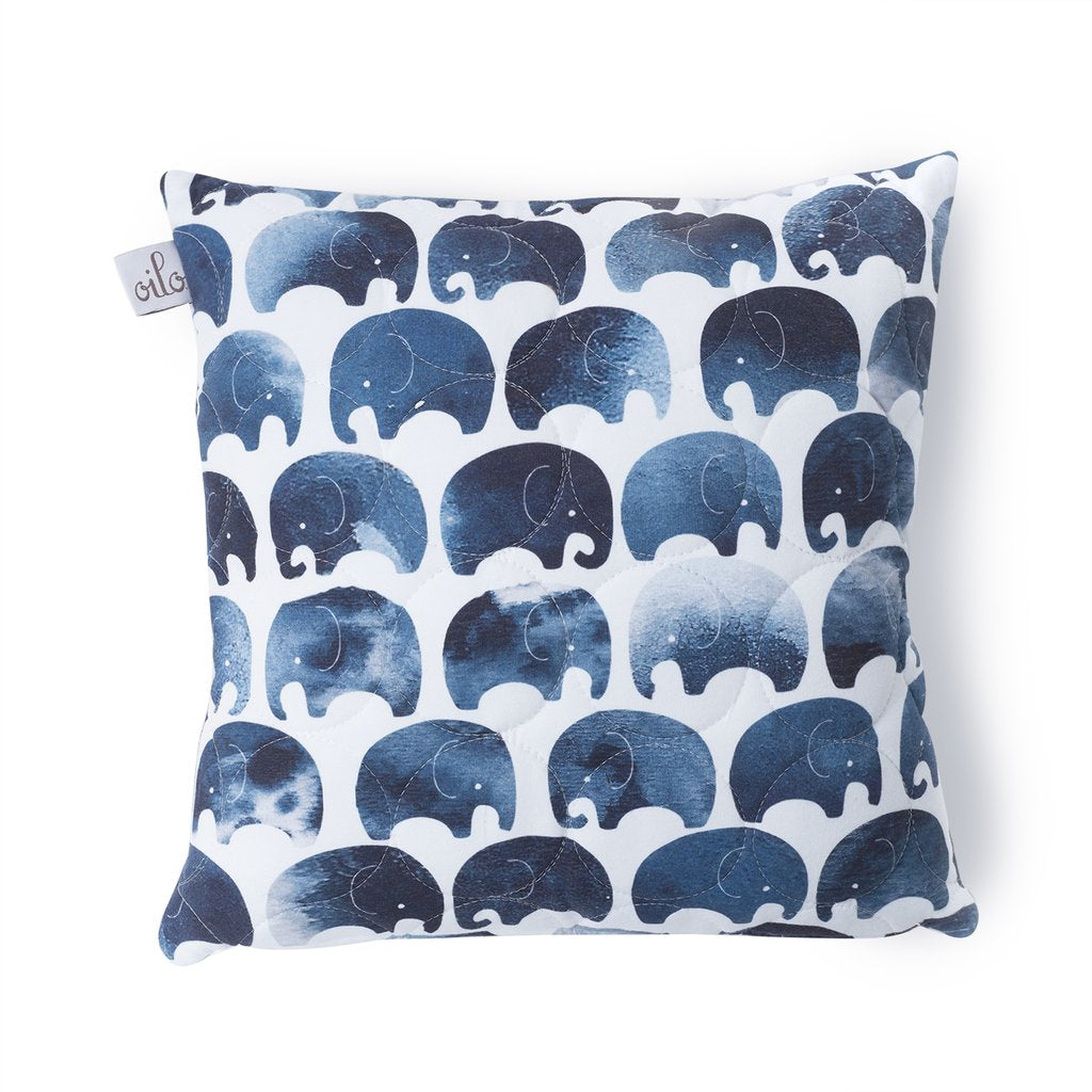 Curated Nest: Nurseries and Design - Oilo Elefant Quilted Pillow - pillow