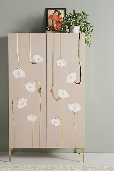 Mother of Pearl Floral Armoire