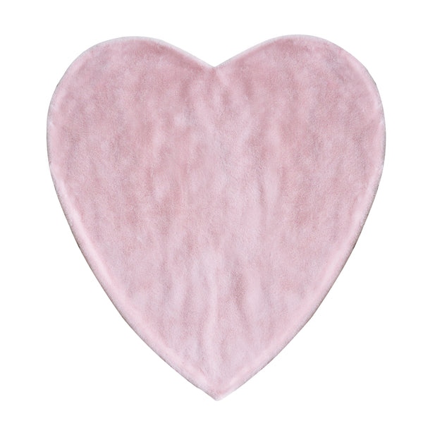 Curated Nest: Nurseries and Design - Plush Pink Heart Blanket - Blanket