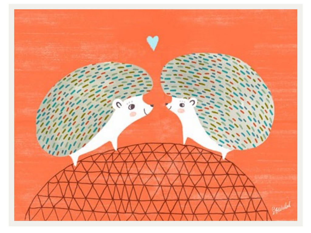 Curated Nest: Nurseries and Design - Hedgehog Love Print - Art