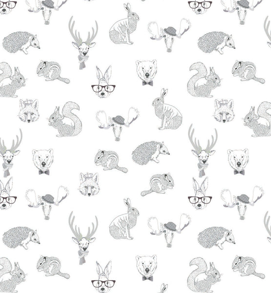 Curated Nest: Nurseries and Design - Hipster Animal Mural - wallpaper