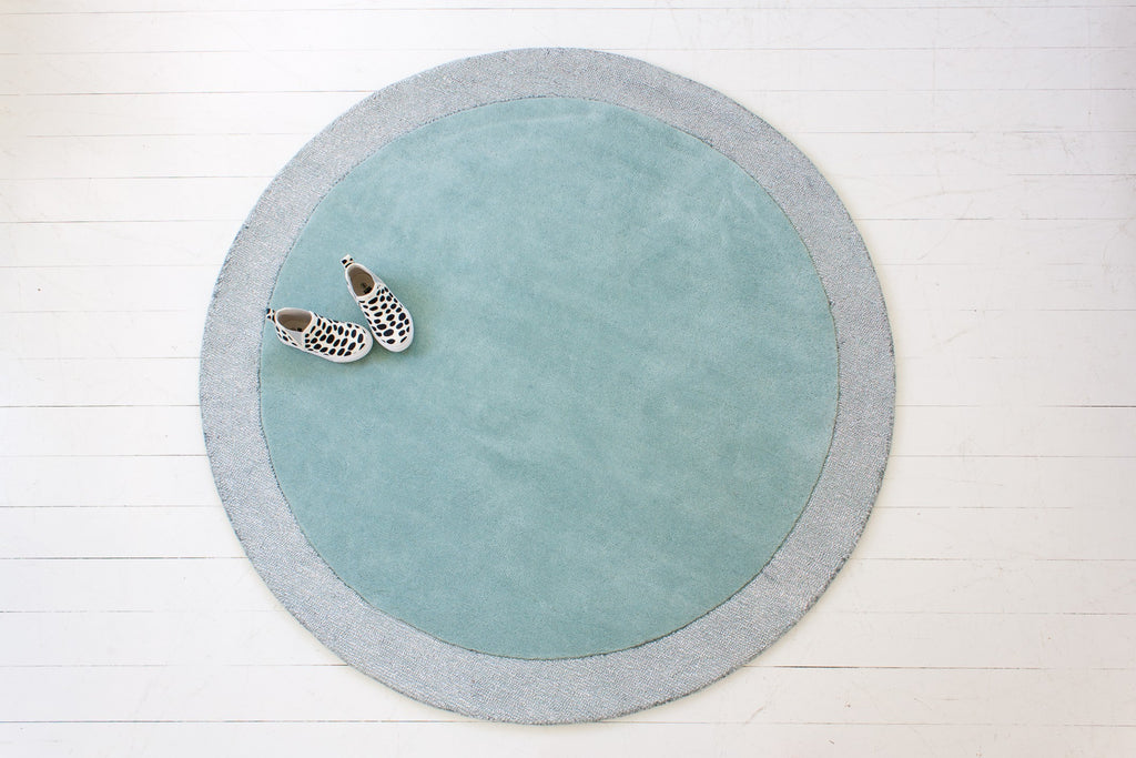 Silver Moon Rug in Icy Blue