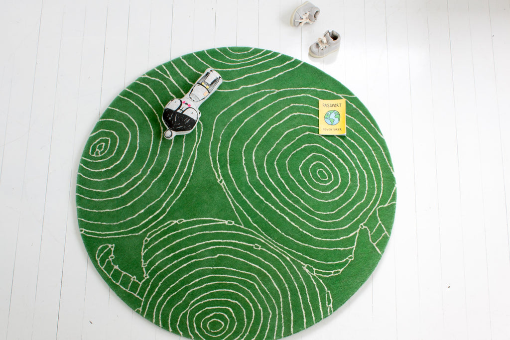 Curated Nest: Nurseries and Design - Green Apple Rug - Rug