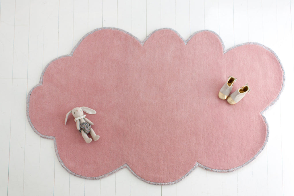 Curated Nest: Nurseries and Design - Silver Lining Cloud Rug - Pink Blossom - Rug