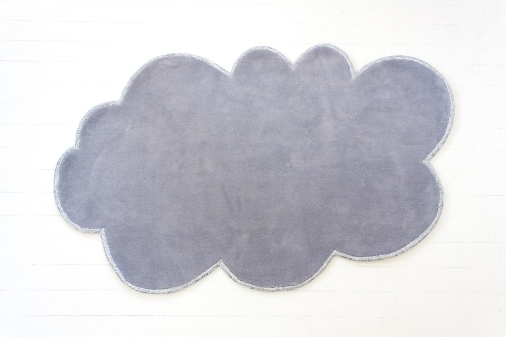 Curated Nest: Nurseries and Design - Silver Lining Cloud Rug - Cloudy Grey - Rug