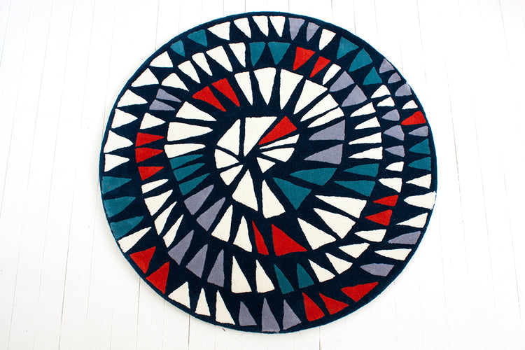 Curated Nest: Nurseries and Design - Round and Round Rug - Night Pop - Rug