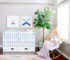 Curated Nest: Nurseries and Design - Oilo Aqua Band Crib Skirt - Crib Skirt