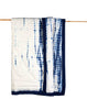 Curated Nest: Nurseries and Design - Kyoto Blue Shibori Handmade Quilt - Blanket
