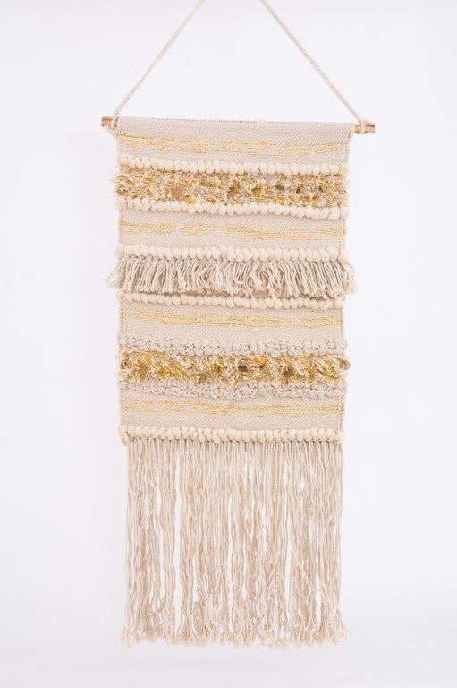 curated nest wall decor, macrame wall hanging