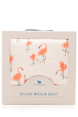 Pink Ladies Flamingo Deluxe Quilt