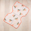 Curated Nest: Nurseries and Design - Muslin Burp Cloth - Watercolor Rose - Gifts