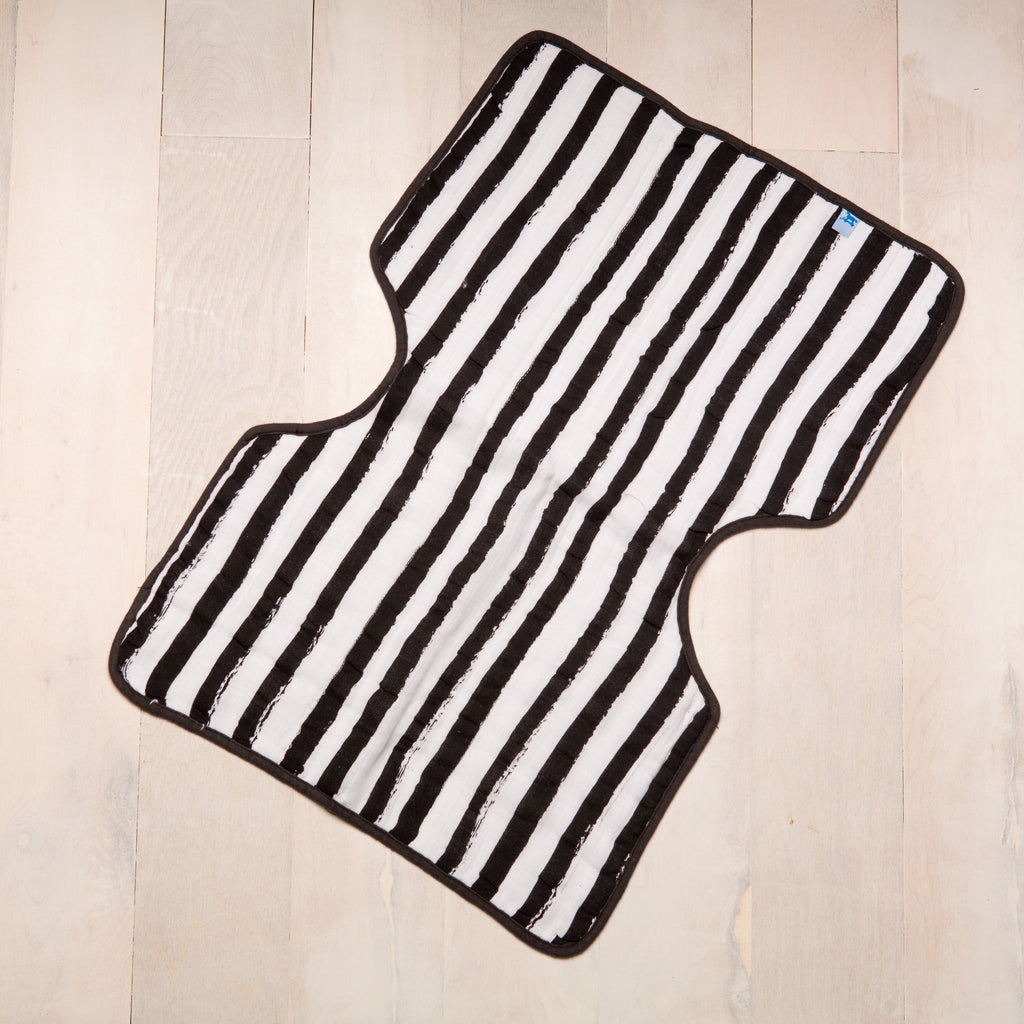 Curated Nest: Nurseries and Design - Muslin Burp Cloth - Ink Stripe - Gifts