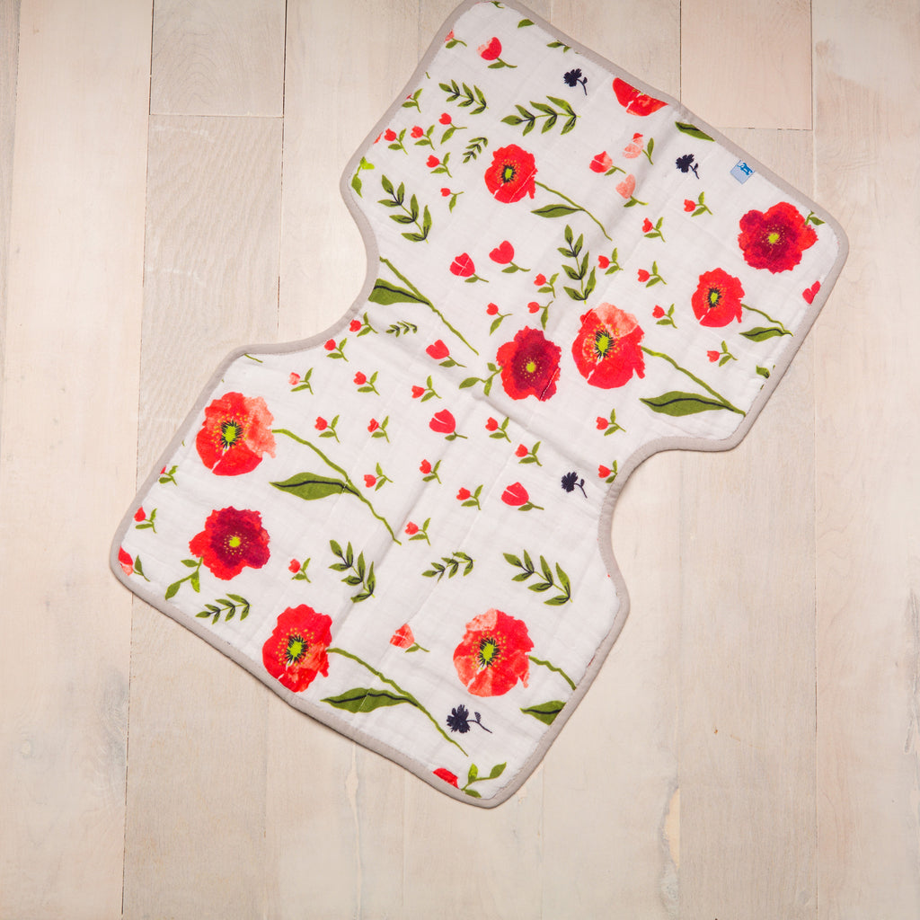 Muslin Burp Cloth - Summer Poppy