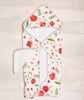Curated Nest: Nurseries and Design - Hooded Towel & Wash Cloth Set - Summer Poppy - Gifts