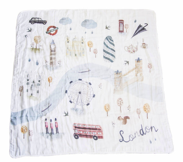 Curated Nest: Nurseries and Design - Luxe Muslin Swaddle - London - Blanket