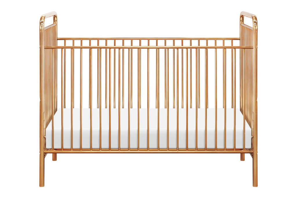Curated Nest: Nurseries and Design - Jubilee 3-in-1 Convertible Metal Crib - Gold - Crib