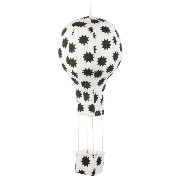 Curated Nest: Nurseries and Design - Hot Air Balloon Mobile - Black Stars - Accessories