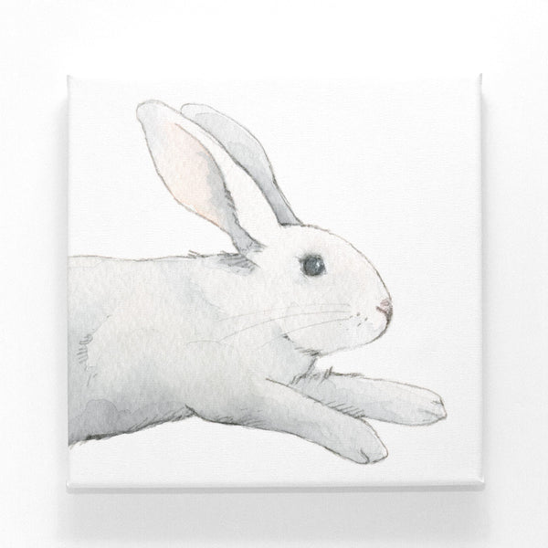 Curated Nest: Nurseries and Design - Jumping Bunny on Canvas - Art