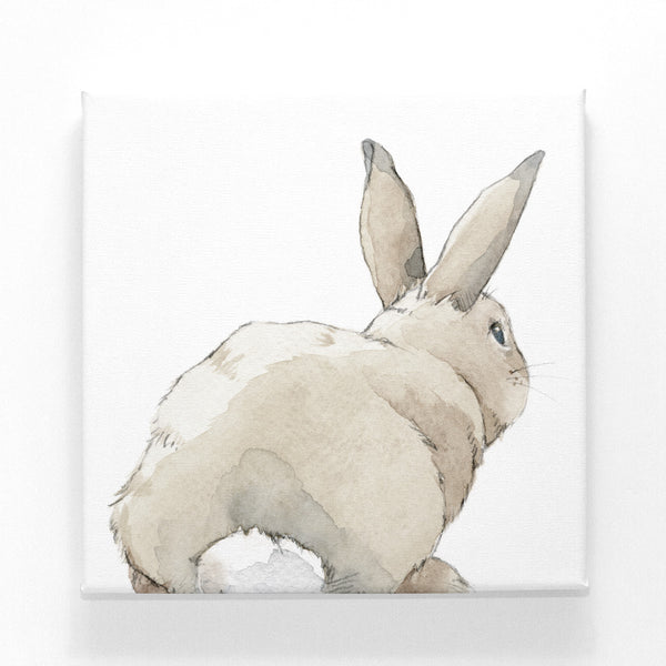 Curated Nest: Nurseries and Design - Shy Bunny on Canvas - Art