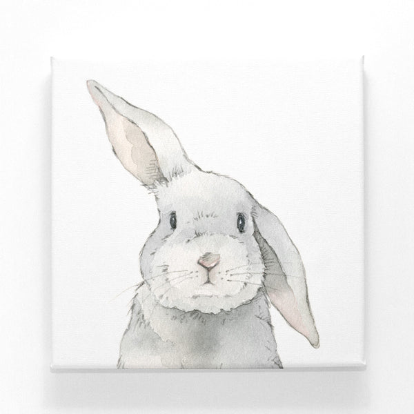 Curated Nest: Nurseries and Design - Silly Bunny on Canvas - Art