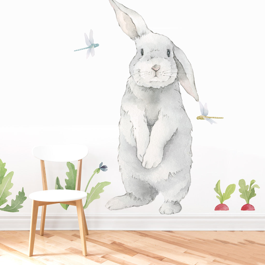 Curated Nest: Nurseries and Design - Big Silly Bunny Decal - wallpaper