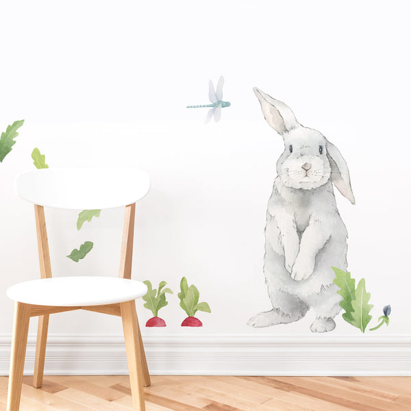 Curated Nest: Nurseries and Design - Medium Size Silly Bunny Decal - wallpaper