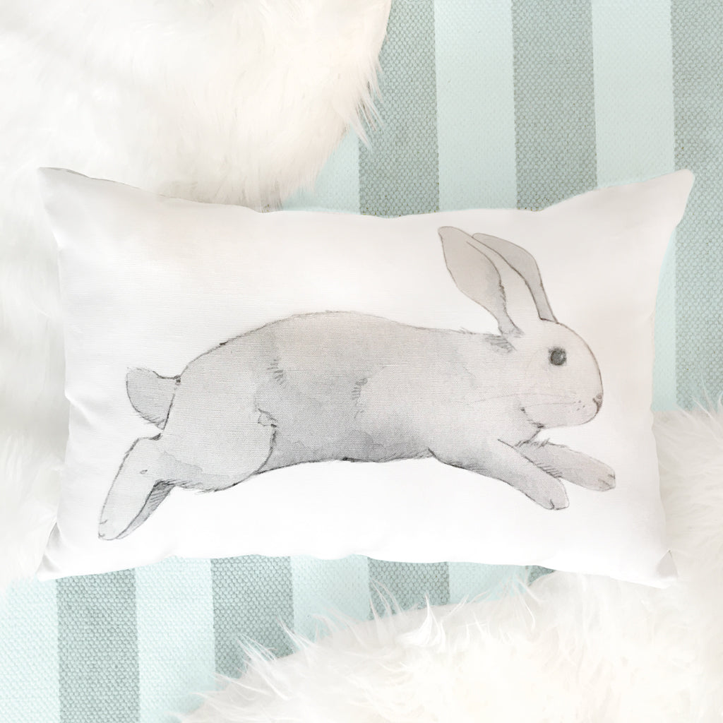 Curated Nest: Nurseries and Design - Jumping Bunny Pillow - pillow
