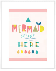 Mermaid Sleeps Here Print
