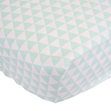 Curated Nest: Nurseries and Design - Mint Triangles Crib Sheet - Crib Sheet