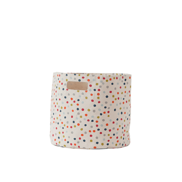 "Curated Nest: Nurseries and Design - Dots ""Pint-sized"" Storage Bin - Storage"