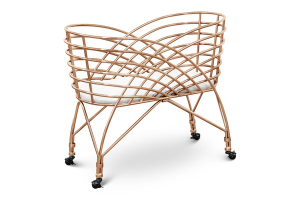 Curated Nest: Nurseries and Design - Aura Rose Gold Bassinet - Crib