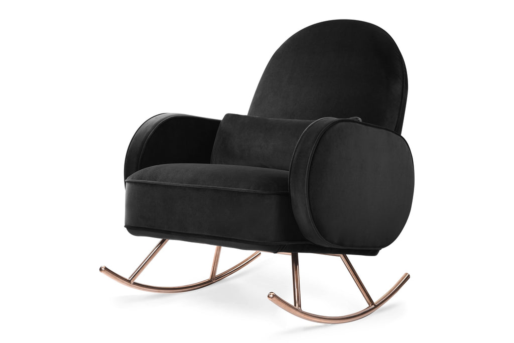 Curated Nest: Nurseries and Design - Compass Rocker in Luxe Velvet - Black - Glider
