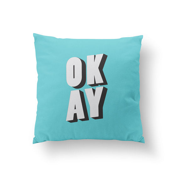 Curated Nest: Nurseries and Design - Okay Pillow - pillow