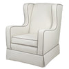 Curated Nest: Nurseries and Design - Oilo Penelope Glider in Ivory and Ash Velvet - Glider