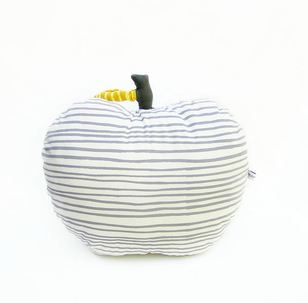 Curated Nest: Nurseries and Design - Apple Pillow - Grey Stripes - pillow