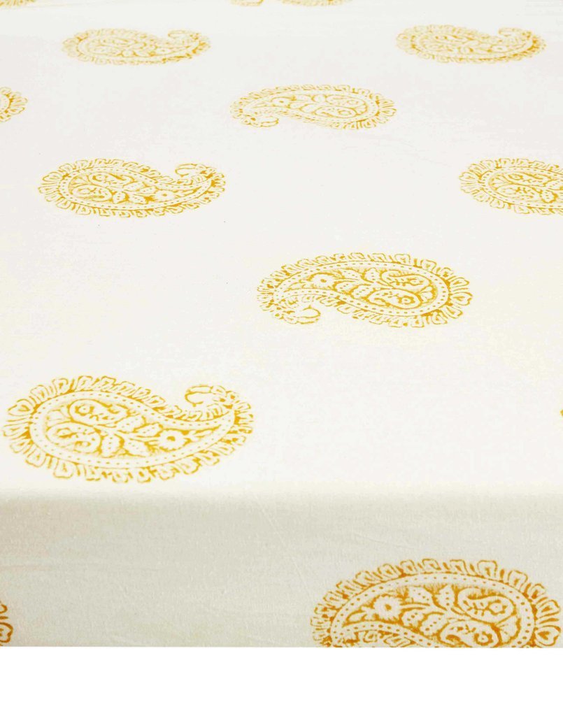 Curated Nest: Nurseries and Design - Mustard Paisley Crib Sheet - Crib Sheet
