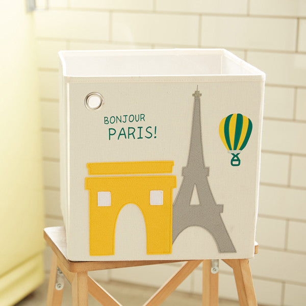 Canvas Storage Box - Paris