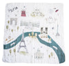 Curated Nest: Nurseries and Design - Luxe Muslin Swaddle - Paris - Blanket