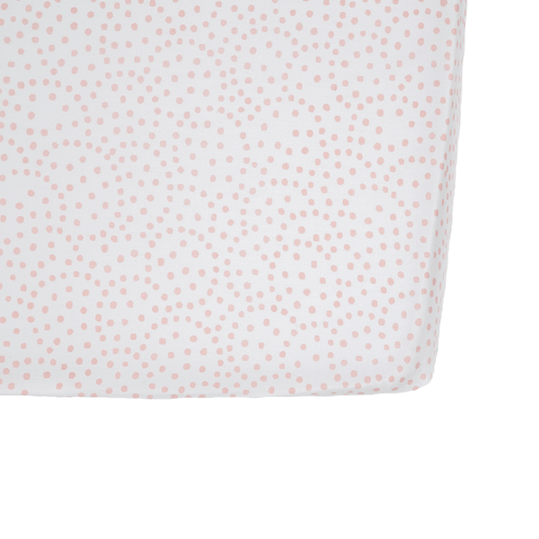 Pink Dots Crib Sheet
