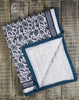 Provence Teal Natural Cotton Handmade Quilt