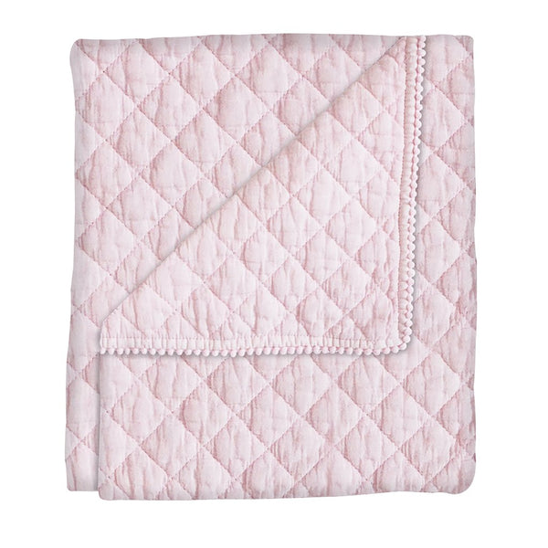 Curated Nest: Nurseries and Design - Diamond Stonewash Pink Quilt - Blanket