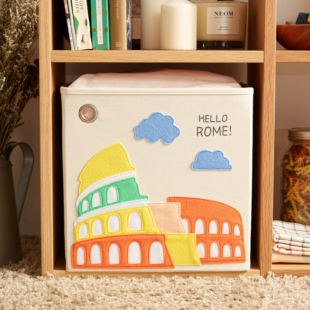 Curated Nest: Nurseries and Design - Canvas Storage Box - Rome - Storage