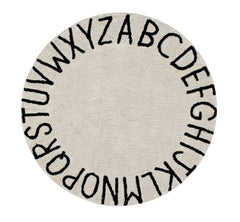 Round ABC Washable Rug
