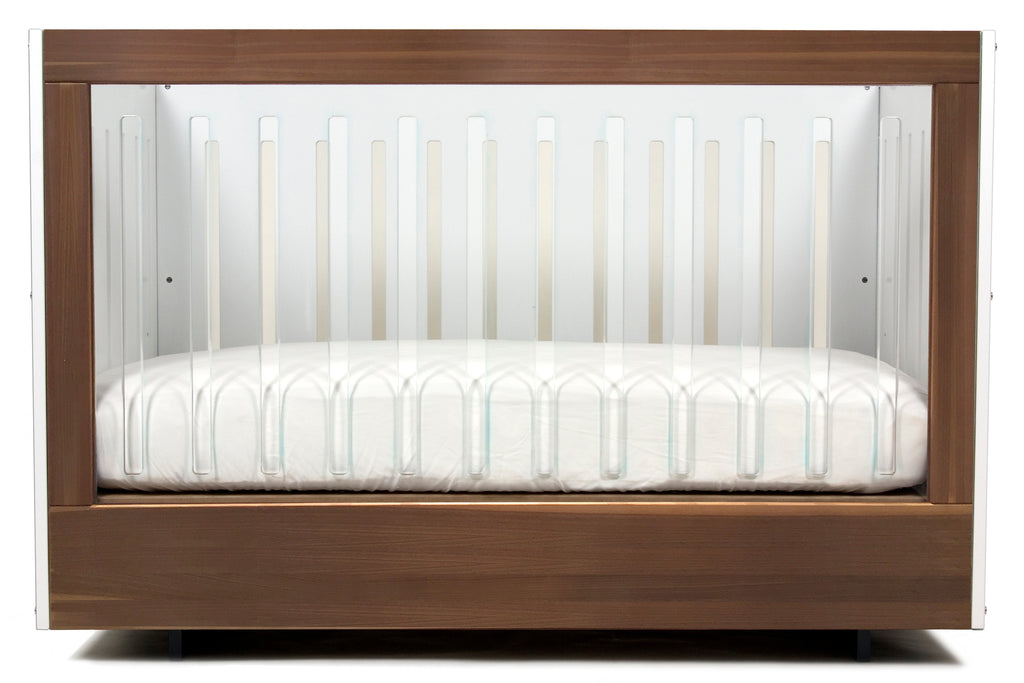 Curated Nest: Nurseries and Design - Roh Acrylic Crib - Walnut - Crib