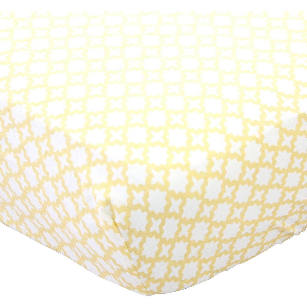 Yellow Trellis Crib Sheet